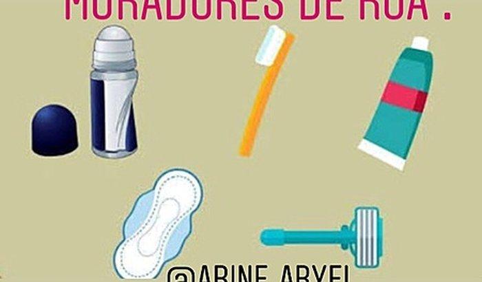 Kit de higiene pessoal para moradores de rua