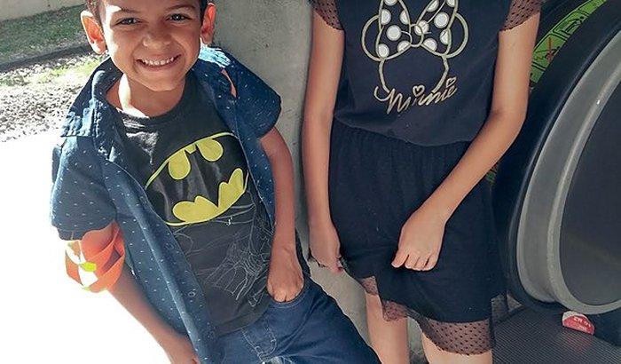 Irmãos Isabelly e Pedro
