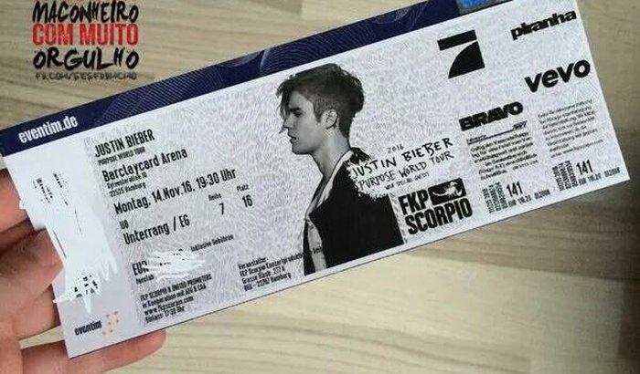 Quero ir pro show do Justin haha