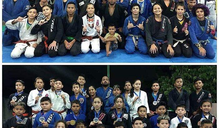 academia de jiu-jitsu, ajudamos crianças sem recursos.