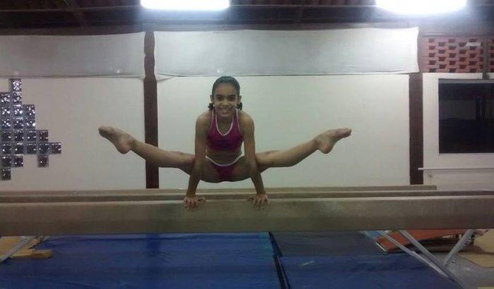 Sofia treina em Orlando