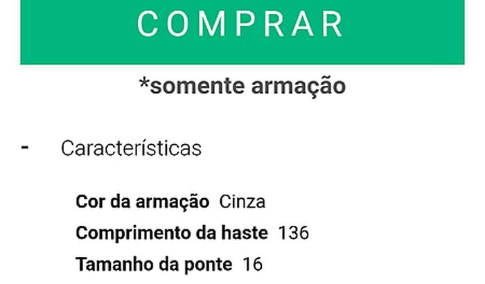 ÓCULOS DE LEITURA DE 250,00 REAIS PARA LONGE