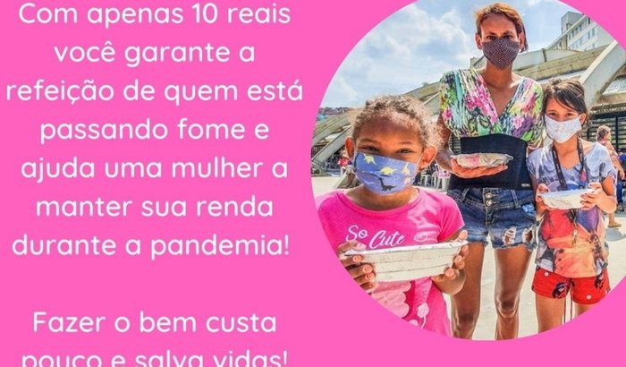 Nos ajude a continuar ajudando quem tem fome em Paraisópolis