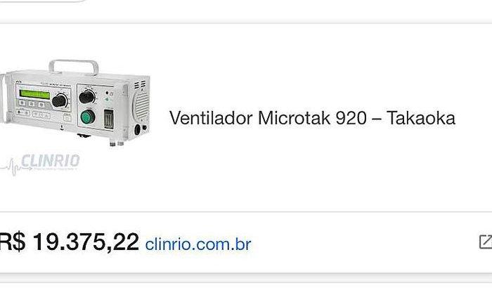 Ventilador Respirador para o Hospital de Santo Anastácio/SP