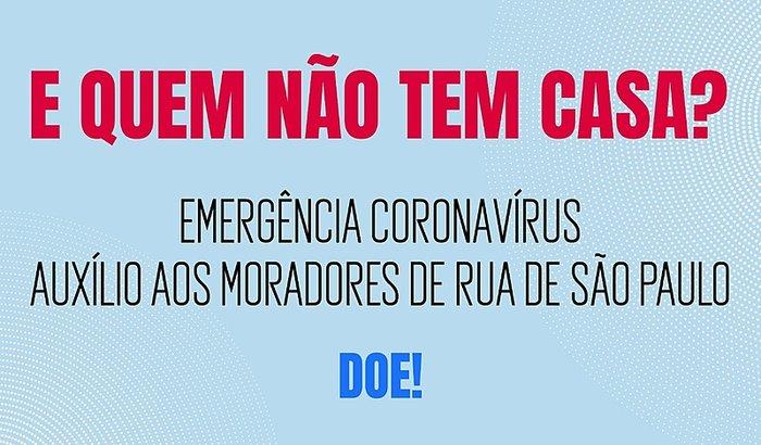 Ajuda aos moradores de rua de São Paulo contra o COVID-19