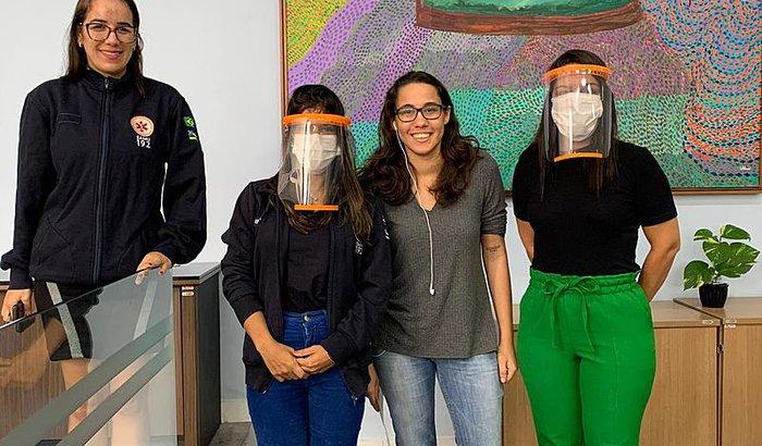 Máscaras de proteção para os profissionais da saúde de Sergipe