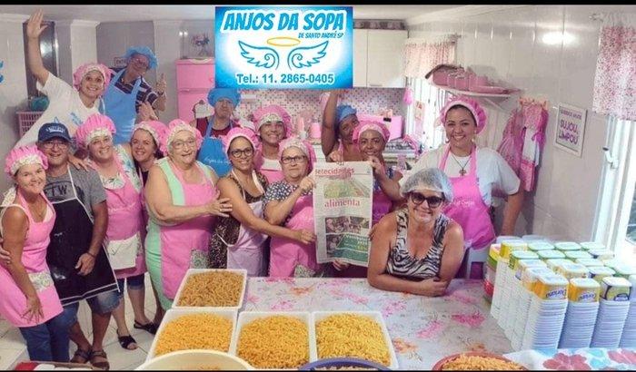 Anjos da sopa de Santo André SP , Na luta contra a fome!