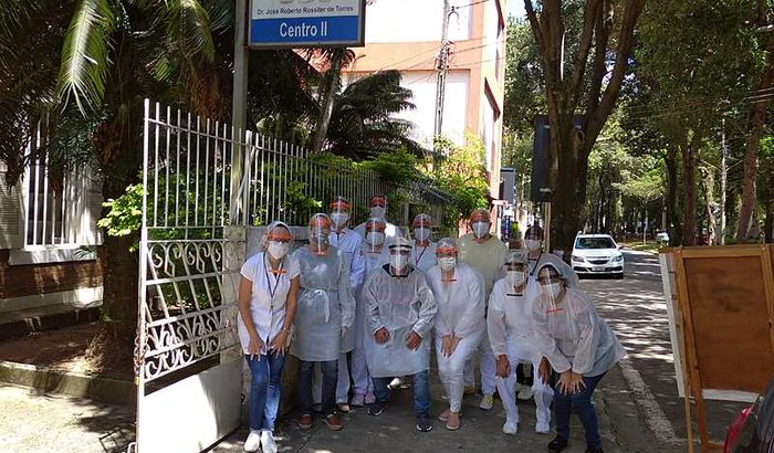 Máscaras para os profissionais de saúde, na crise do Coronavirus