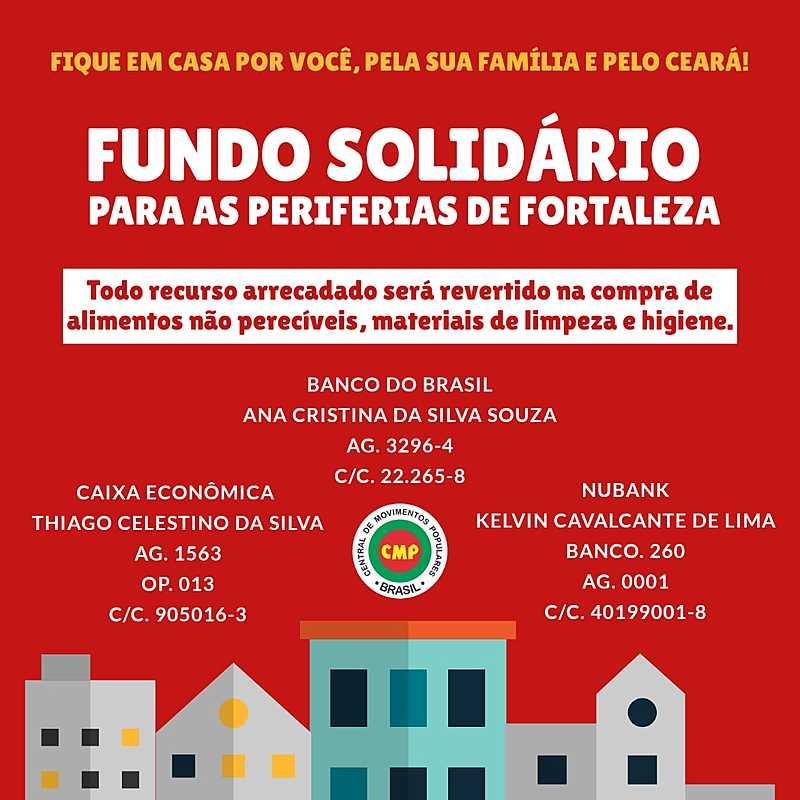 Fundo solidário para as periferias de Fortaleza/Ceará