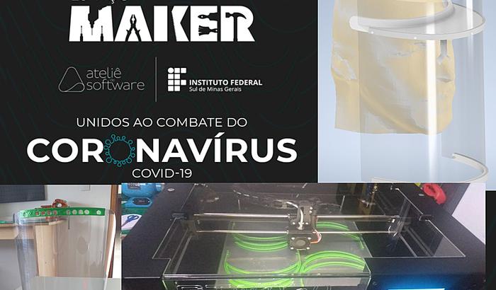 VALOR EXCEDIDO PARA AÇÕES Impressão 3D 1000 máscaras COVID-19