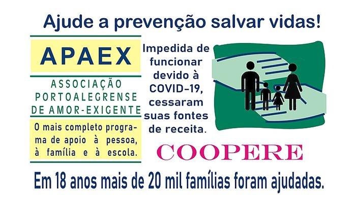Ajude o Amor-Exigente de Porto Alegre