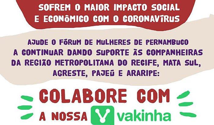 Ações de Solidariedade do Fórum de Mulheres de Pernambuco